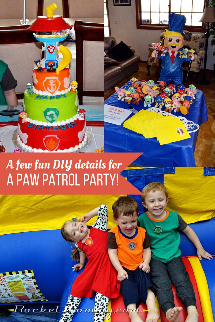 A Few Diy Details For A Paw Patrol Party Rocket Mommy
